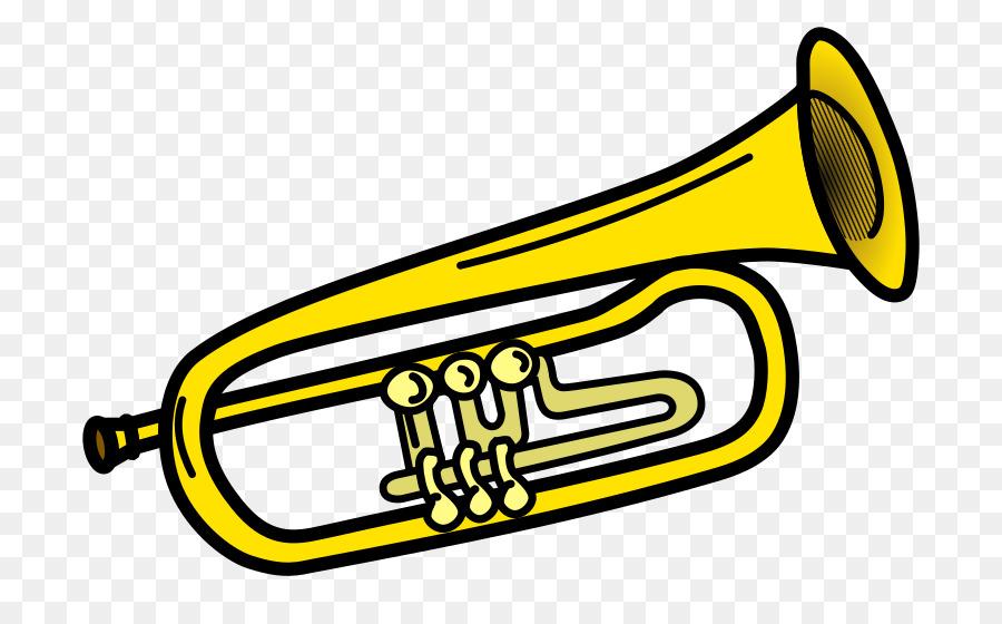 Trumpet clipart transparent clip free Wind Cartoon clipart - Trumpet, Illustration, Yellow ... clip free