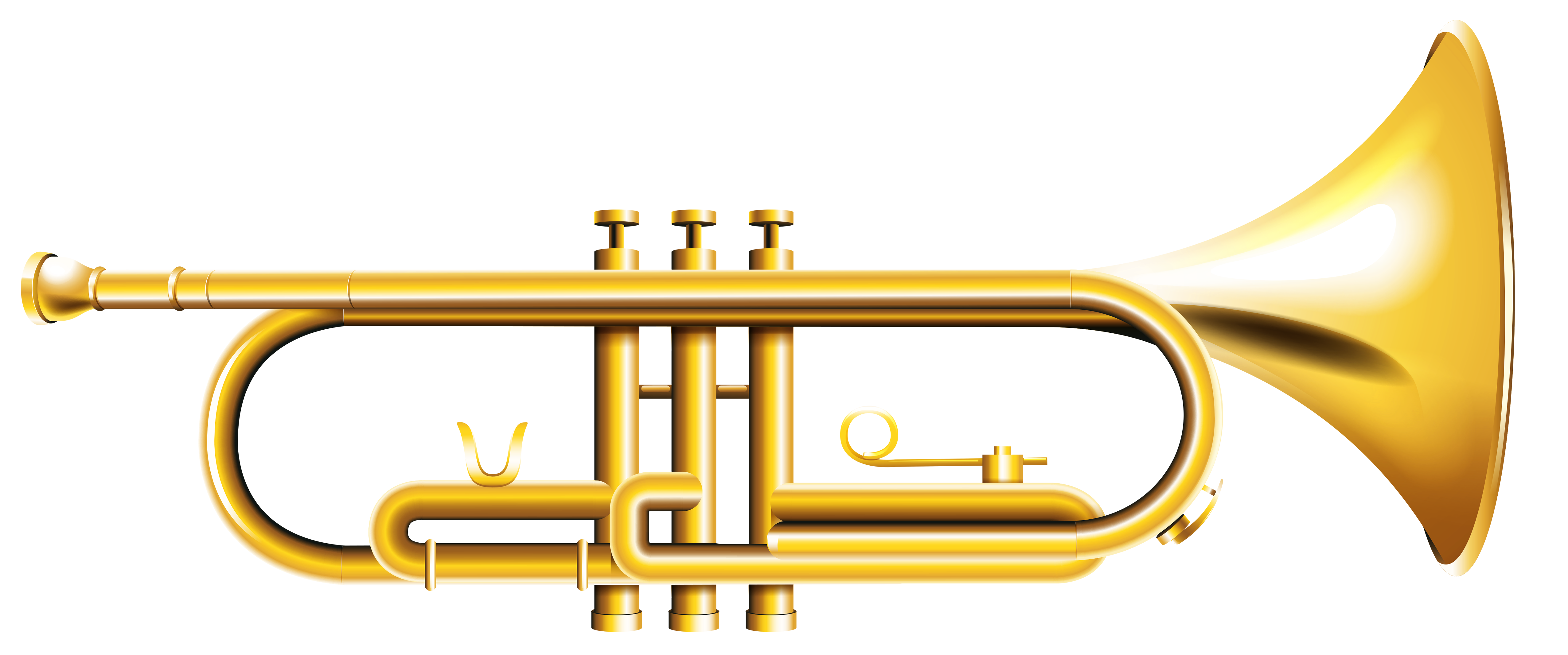 Trumpet clipart transparent png royalty free library Trumpet Transparent PNG Clipart | Gallery Yopriceville ... png royalty free library