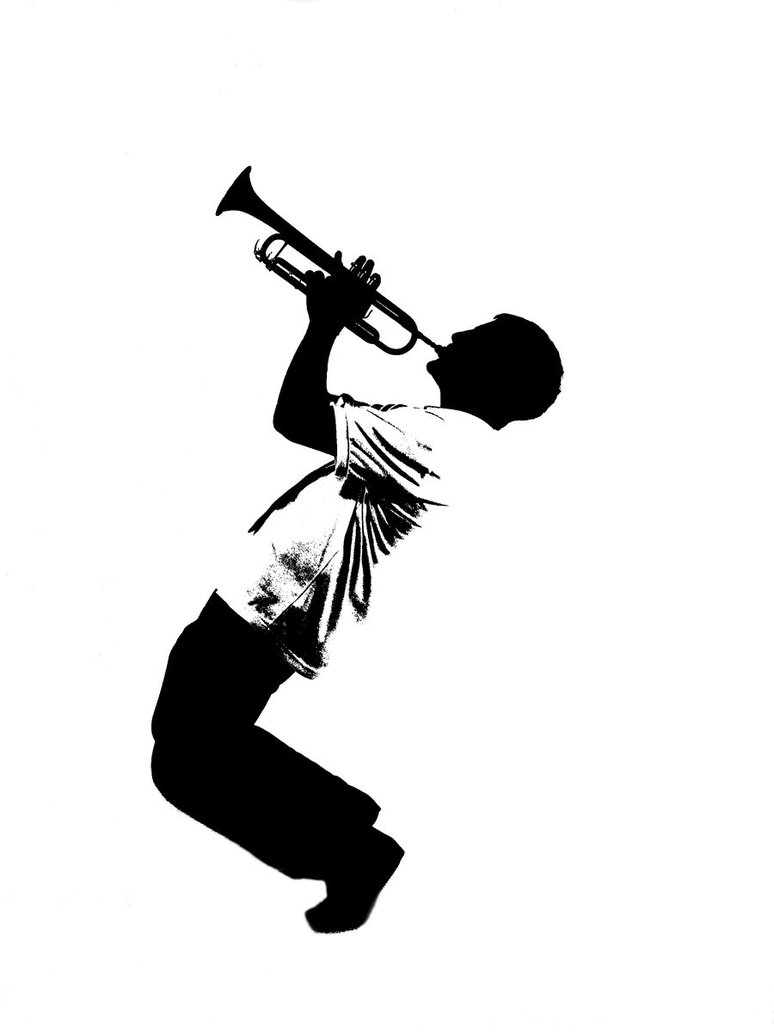 Trumpet player silhouette clipart clip black and white library Free Trombone Silhouette Cliparts, Download Free Clip Art ... clip black and white library