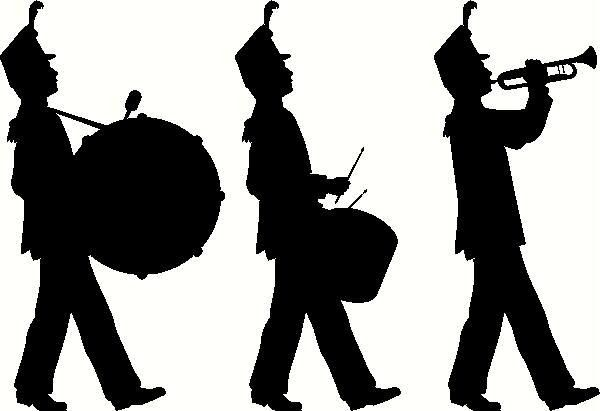 Trumpet player silhouette clipart vector royalty free library Marching Band Silhouette Clip Art | Marching Band Silhouette ... vector royalty free library