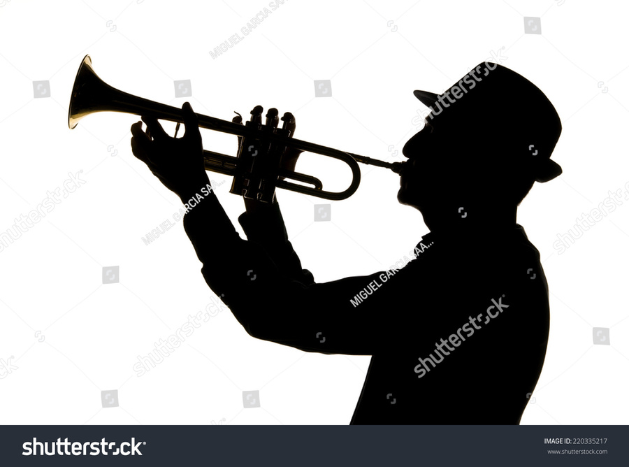 Trumpet player silhouette clipart clip royalty free stock Download person playing trumpet silhouette clipart Trumpeter ... clip royalty free stock