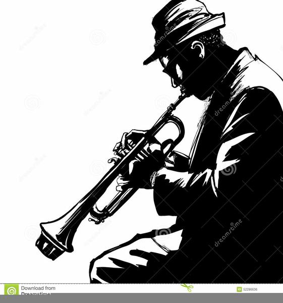 Trumpet player silhouette clipart clip stock Trumpet Player Silhouette Clipart   Free Images at Clker.com ... clip stock