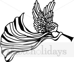 Trumpeting angel clipart graphic library download Trumpeting Angel Clipart | Christmas Angel Clipart | Art ... graphic library download