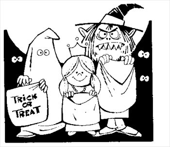 Best Trunk Or Treat Clipart #22756 - Clipartion.com jpg black and white