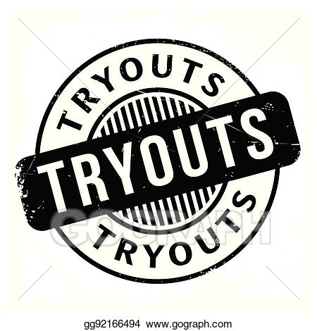 Tryouts clipart jpg freeuse library Vector Stock - Tryouts rubber stamp. Clipart Illustration ... jpg freeuse library