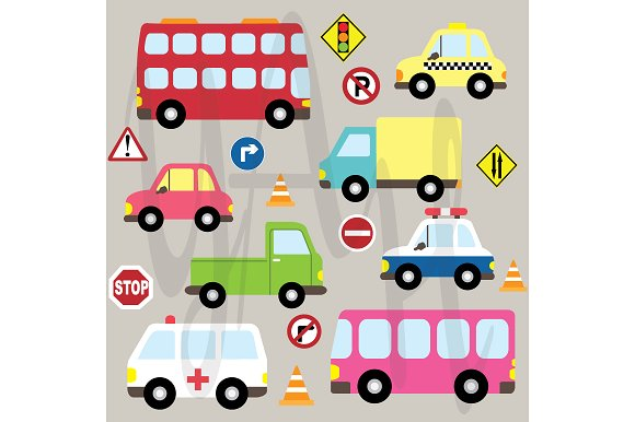 Ts clipart size png Transportation Clip Art ~ Illustrations on Creative Market png