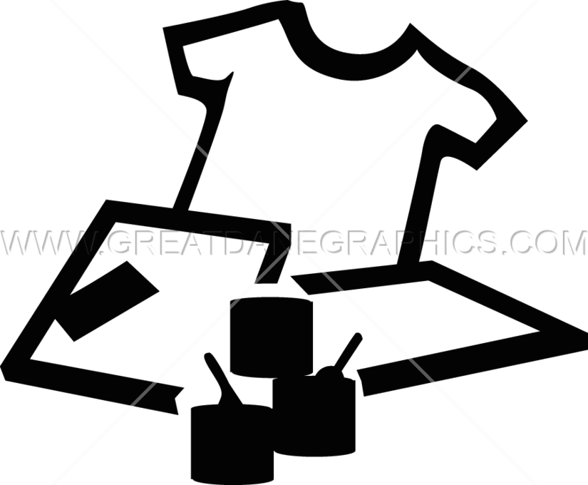Screen Production Ready Artwork - Screen Printing Clipart ... clip art royalty free download