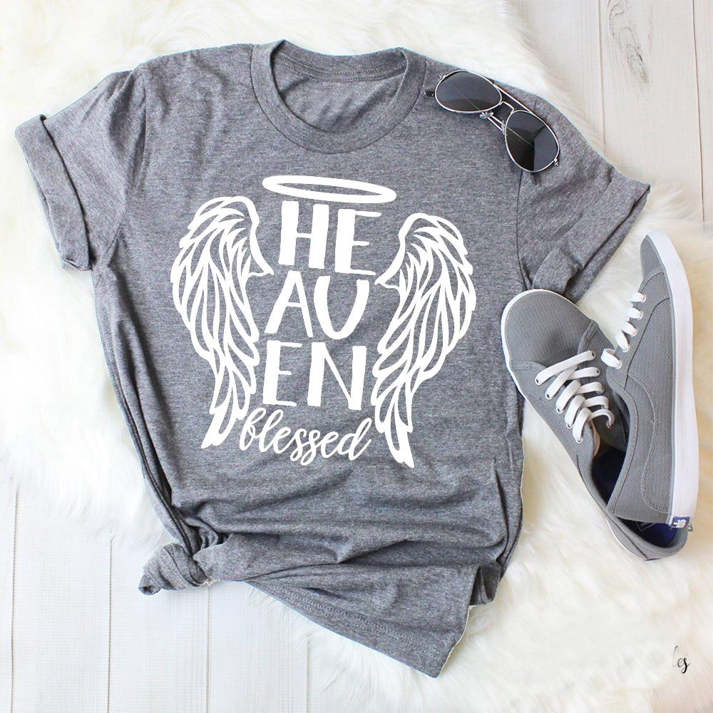 Tshirt wings clipart black and white library Heaven Blessed Design Angel Wings Christian Files Faith Clipart Faith  Quotes graphic wine women fashion t-shirt aesthetic tees black and white library