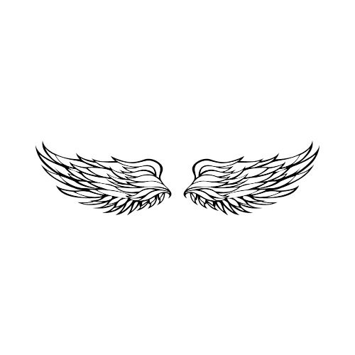 Tshirt wings clipart picture freeuse stock WING Clip Art - Get Started At ThatShirt! picture freeuse stock