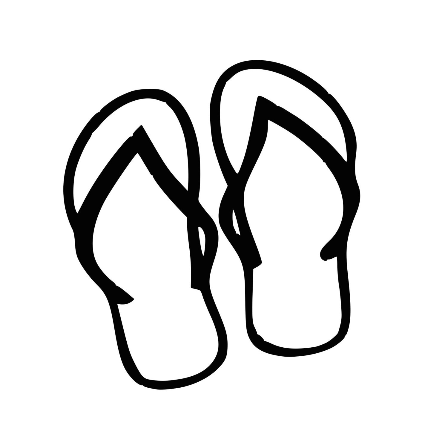 Tsinelas clipart picture freeuse download Tsinelas clipart black and white 1 » Clipart Portal picture freeuse download