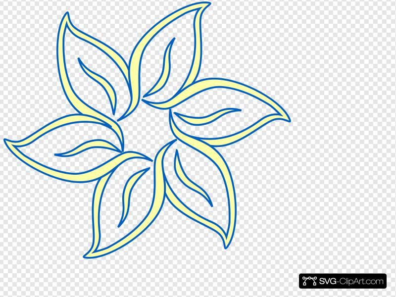 Tu flower clipart vector transparent download Yellow Blue Flower Clip art, Icon and SVG - SVG Clipart vector transparent download