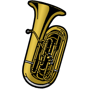 Tuba clipart free vector black and white download Tuba free music graphics stepwise ations materials for band ... vector black and white download