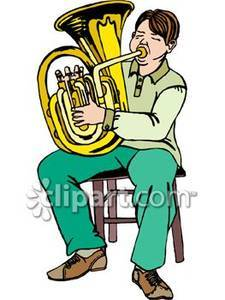 Tuba player clipart » Clipart Portal picture royalty free library