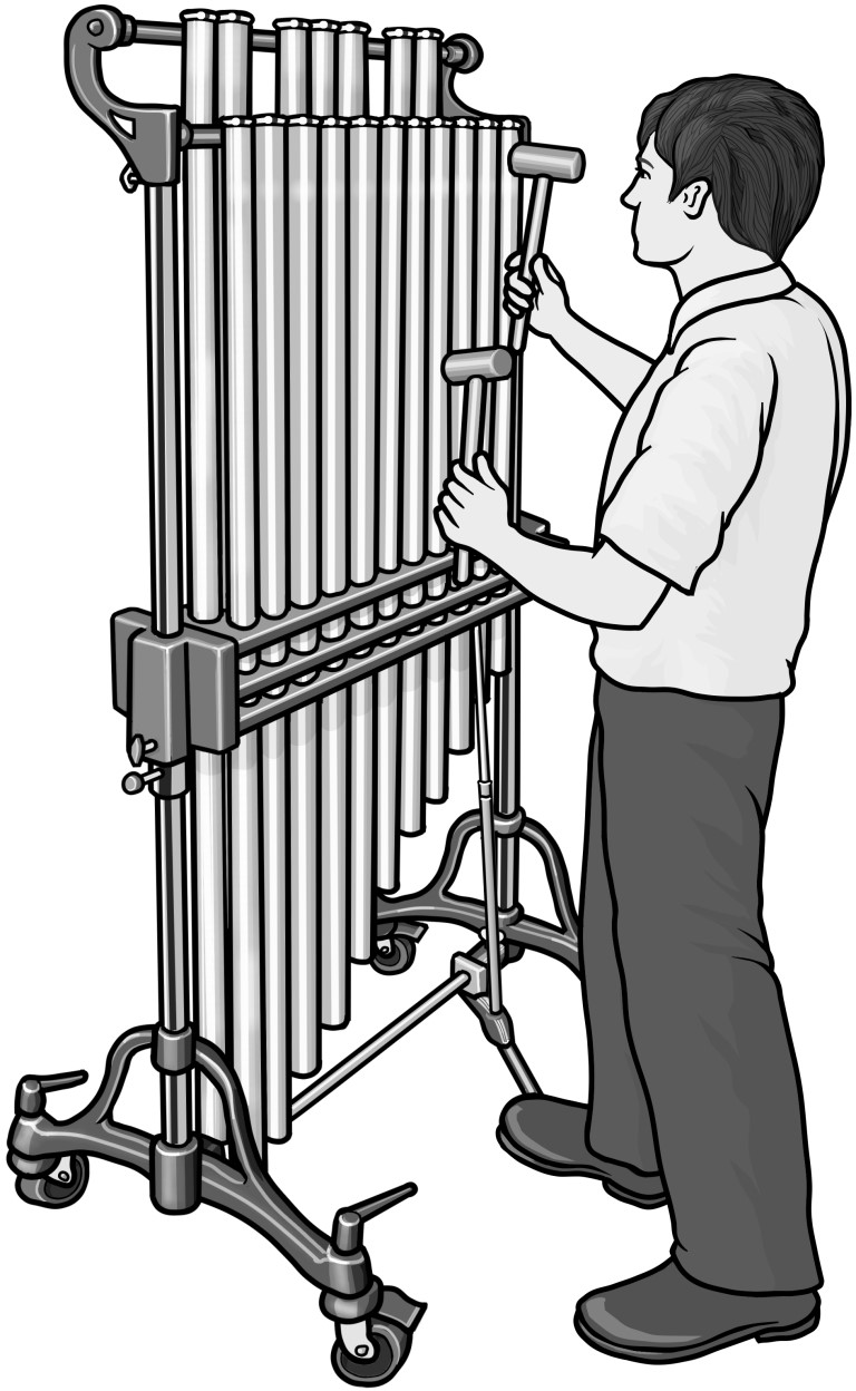 Grayscale images / tubular bells clip art freeuse stock