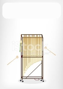 Beautiful Musical Tubular Bells With A White Banner premium ... royalty free