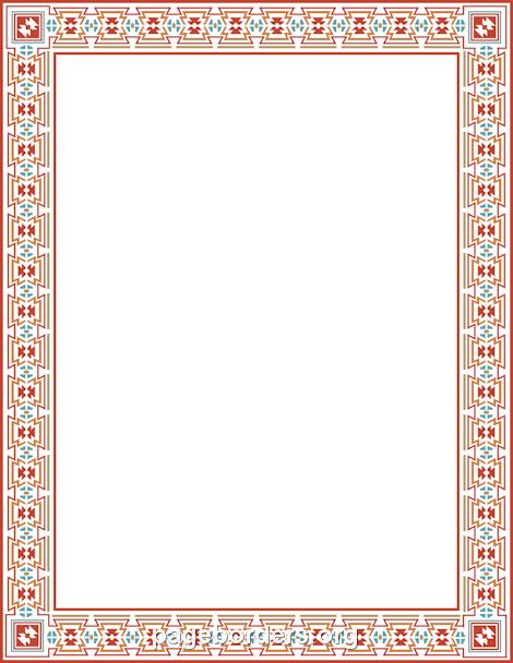 Tudor border clipart clip freeuse Aztec Border: Clip Art, Page Border, and Vector Graphics clip freeuse