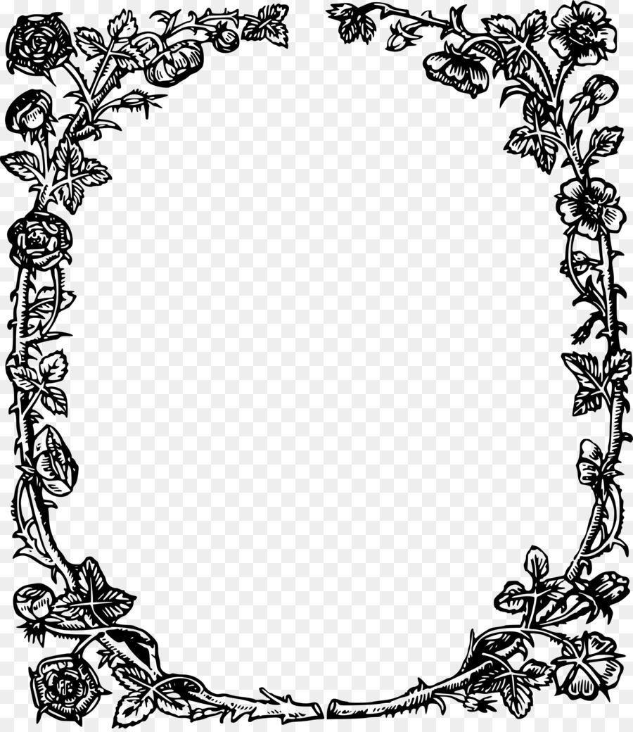 Tudor border clipart graphic royalty free England Tudor period Public domain Clip art - rose frame graphic royalty free