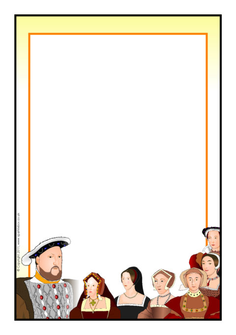 Tudor border clipart png free library Henry VIII A4 Page Borders (SB6651) - SparkleBox png free library