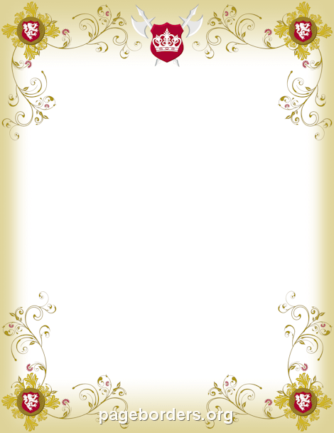 Tudor border clipart picture free library Medieval Border: Clip Art, Page Border, and Vector Graphics picture free library