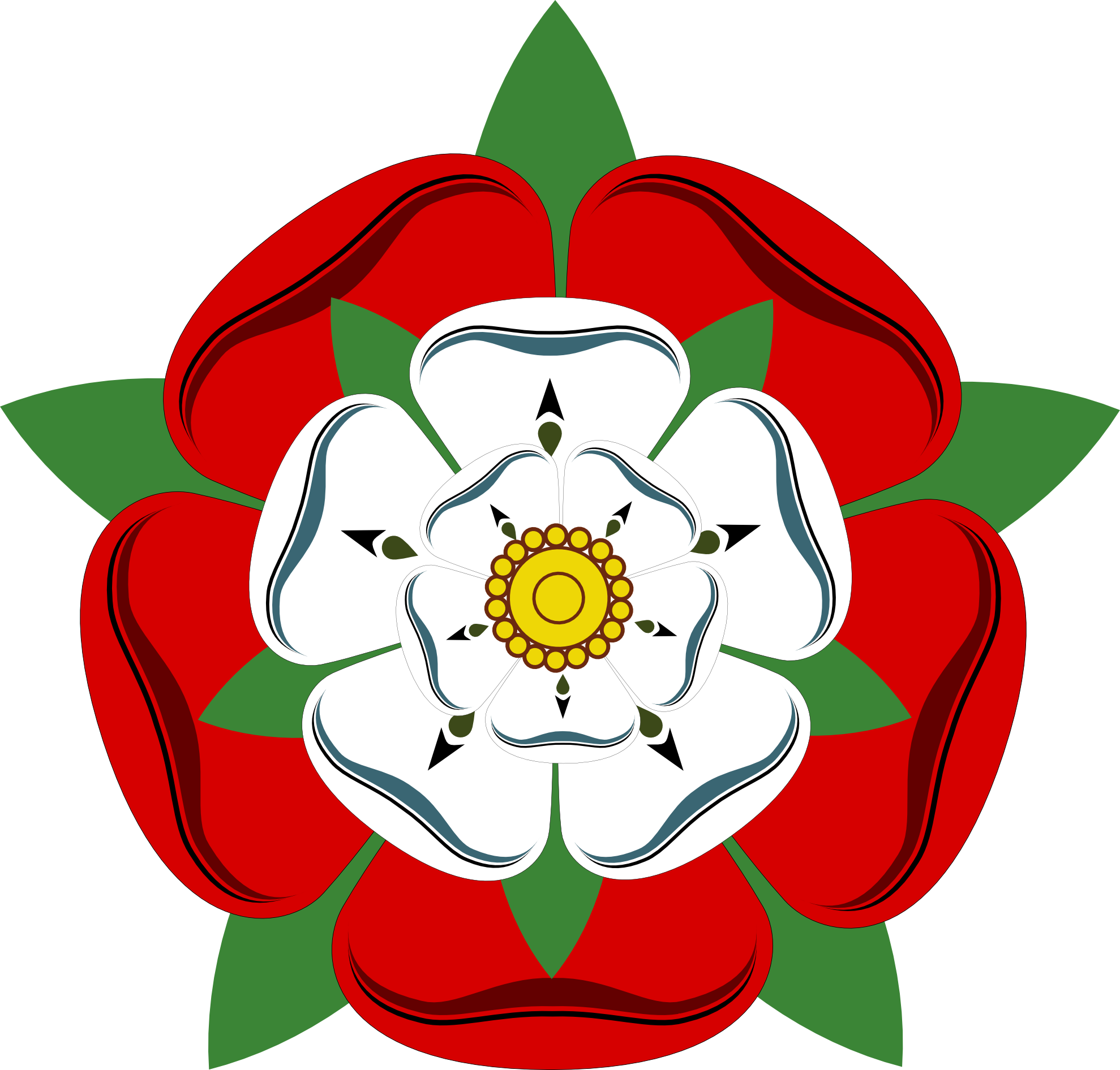 Tudor house clipart banner free The Tudor Rose, a symbol of the joining of the two factions that ... banner free