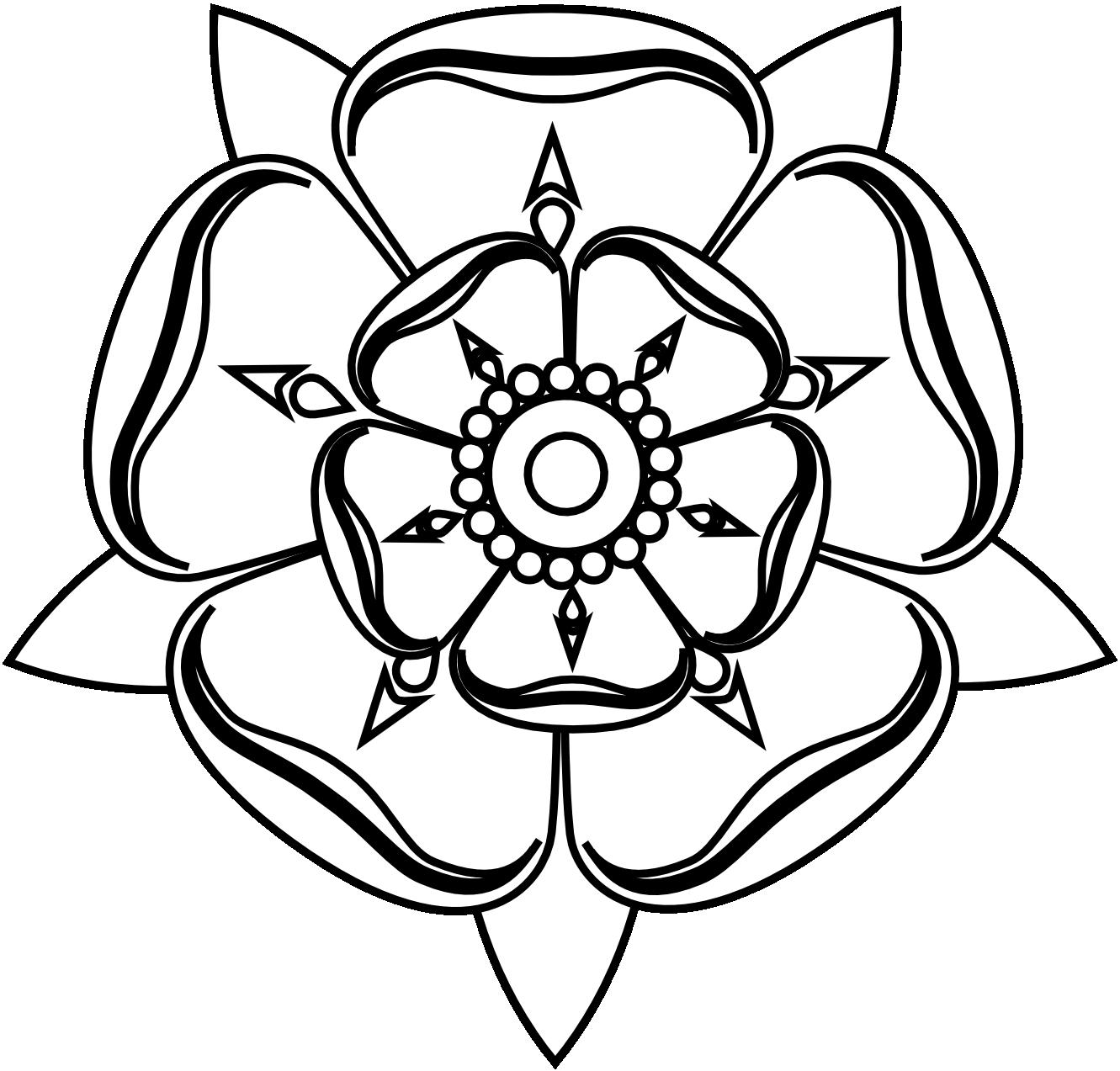 Tudor house clipart vector library library b50f407a4c6488698af669be54f7ba10_-tudor-rose-black-white-tudor-rose ... vector library library