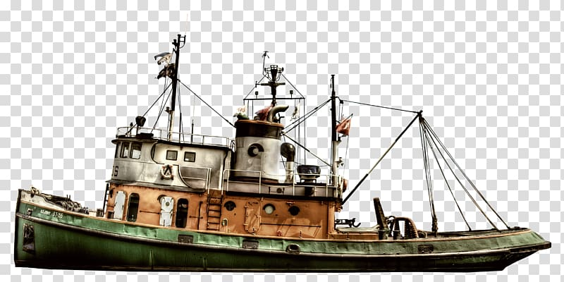 Tugboat on water clipart png black and white library Ship Tugboat Fishing trawler Fishing vessel, Ship ... png black and white library