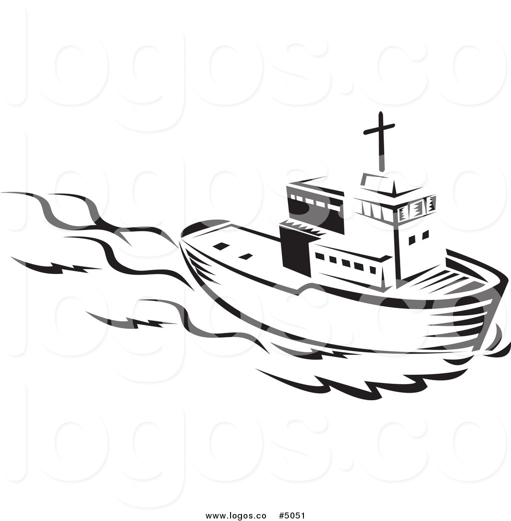 Tugboat pulling ship clipart black and white jpg library Tugboat PNG Black And White Transparent Tugboat Black And ... jpg library