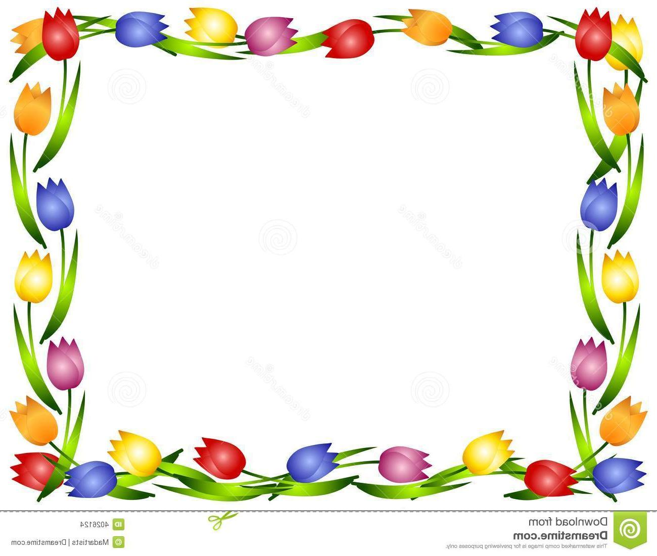 Tulip Clipart Border | Free download best Tulip Clipart ... png transparent library