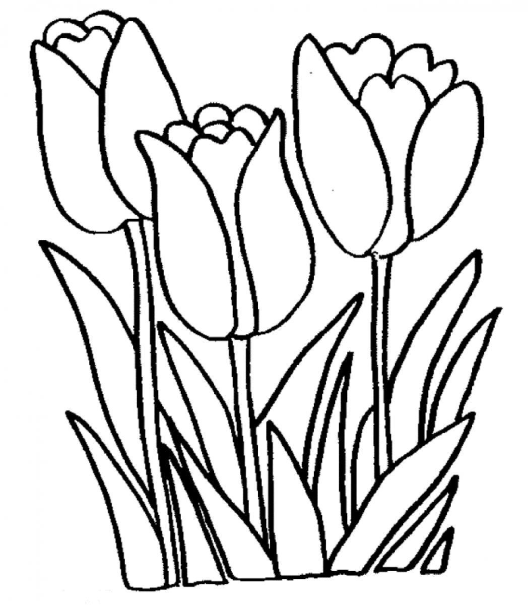 Tulip Clipart Black And White Hd | Letters in Tulip Clipart ... graphic transparent library