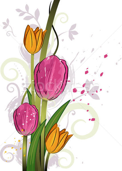Tulips Stock Vectors, Illustrations and Cliparts (Page 3 ... graphic black and white