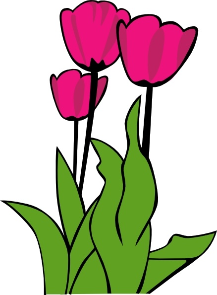 Tulips free clipart free Tulips In Bloom clip art Free vector in Open office drawing ... free