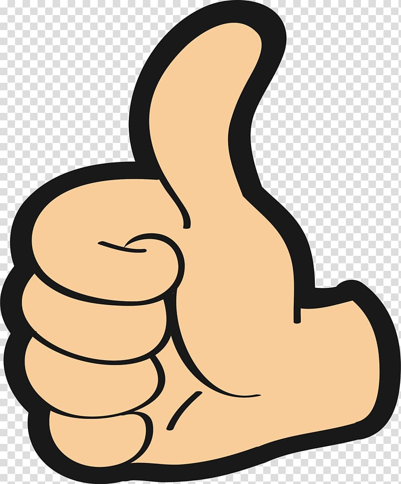 Hand gesture illustration, Thumb signal Encapsulated ... vector free stock