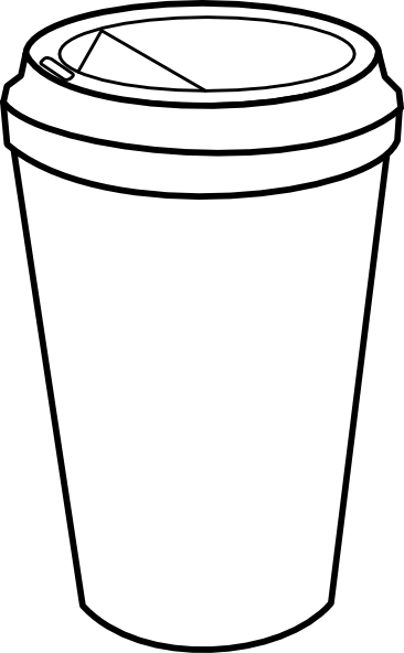 Tumbler clipart black and white banner freeuse download Coffee Cup Outline Clip Art | {getting crafty} | Coffee cup ... banner freeuse download