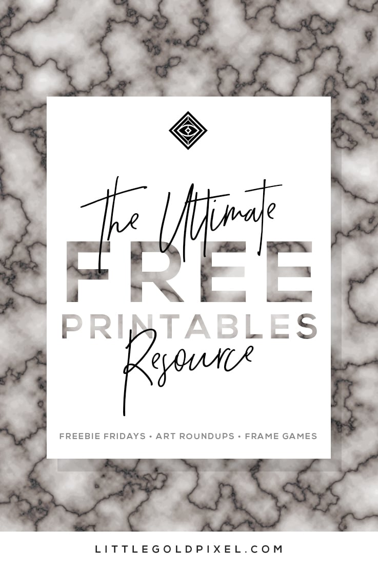 Free Printables • Free Wall Art Roundups • Little Gold Pixel clipart transparent download