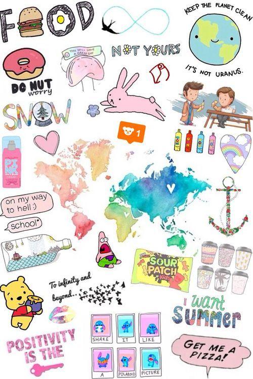 tumblr overlays pink collage ... | backgrounds | Tumblr ... banner transparent download
