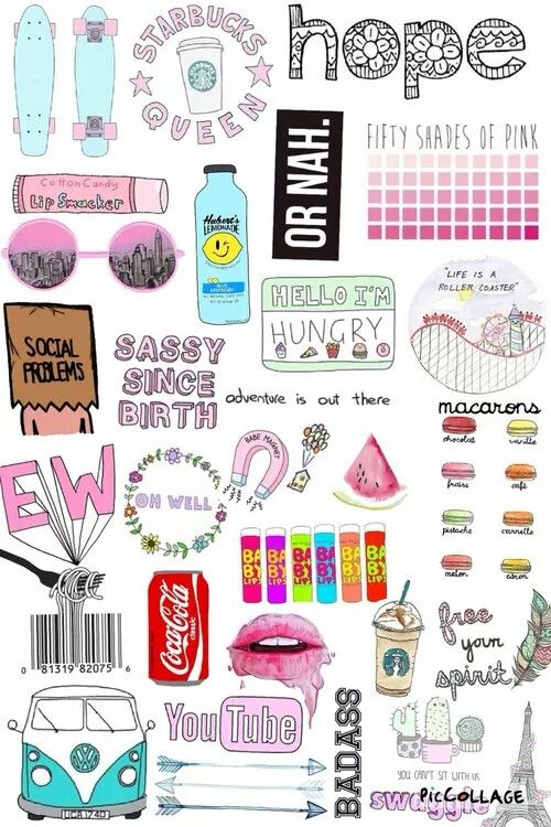 Tumblr clipart collage svg freeuse Tumblr collage … | wallpapers in 2019… svg freeuse