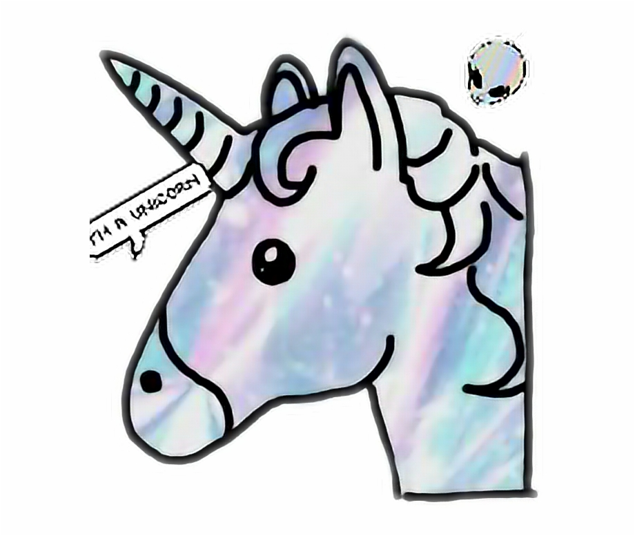 Tumblr clipart unicorn banner library stock Unicorn Unicornremix Holographic Tumblr Love - Unicorn Emoji ... banner library stock