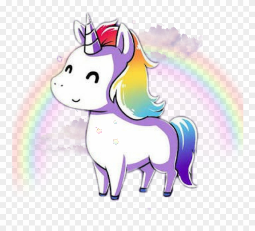 Tumblr clipart unicorn free stock Unicorn Kawaii Rainbow Tumblr Cute Png Cute Rainbow Clipart ... free stock
