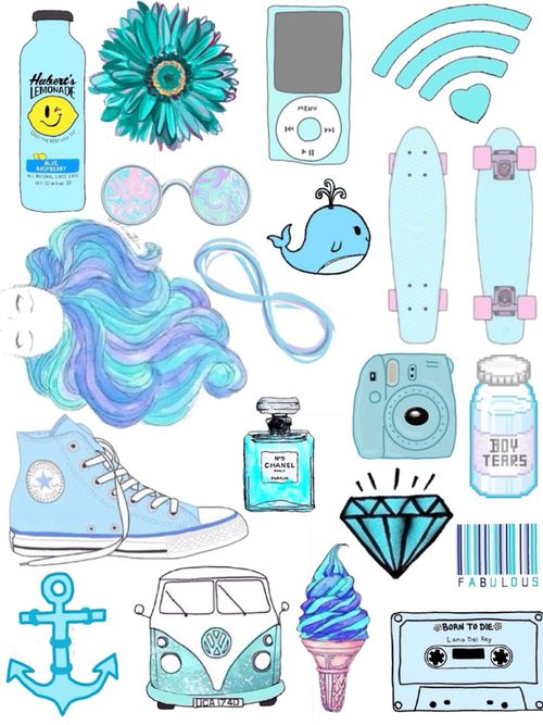 Tumblr clipart wallpaper clip art library stock blue, wallpaper, and converse -kuva | Sticker | Drawings ... clip art library stock