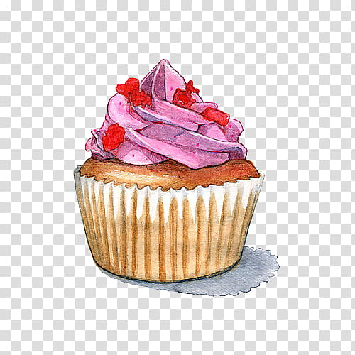 Tumblr cupcake clipart clip black and white Art , cupcake illustration transparent background PNG ... clip black and white