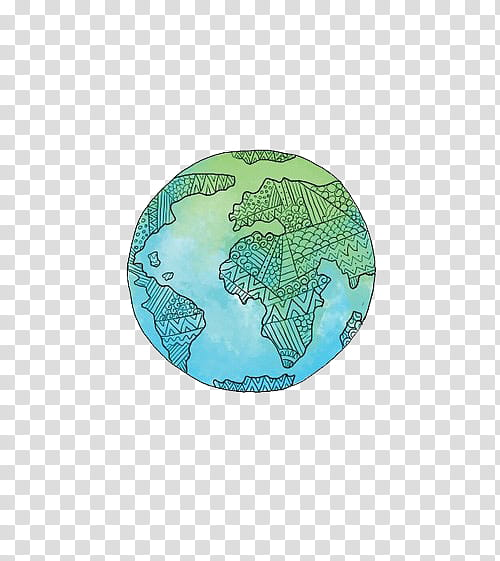Tumblr earth clipart png freeuse library O Overlays, green and blue planet illustration transparent ... png freeuse library