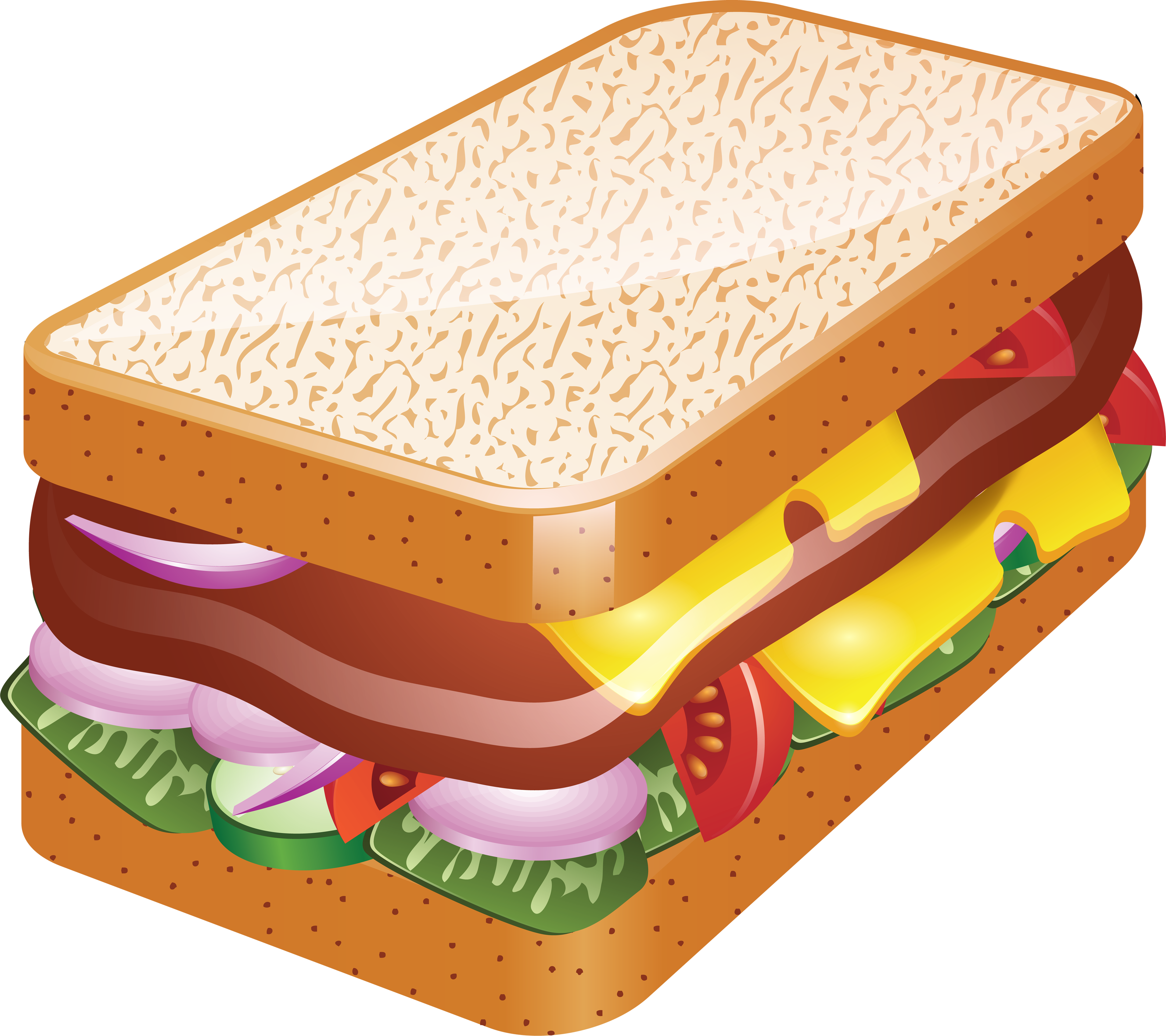 Tuna sandwich clipart clipart royalty free Tuna Sandwich Cliparts - Making-The-Web.com clipart royalty free