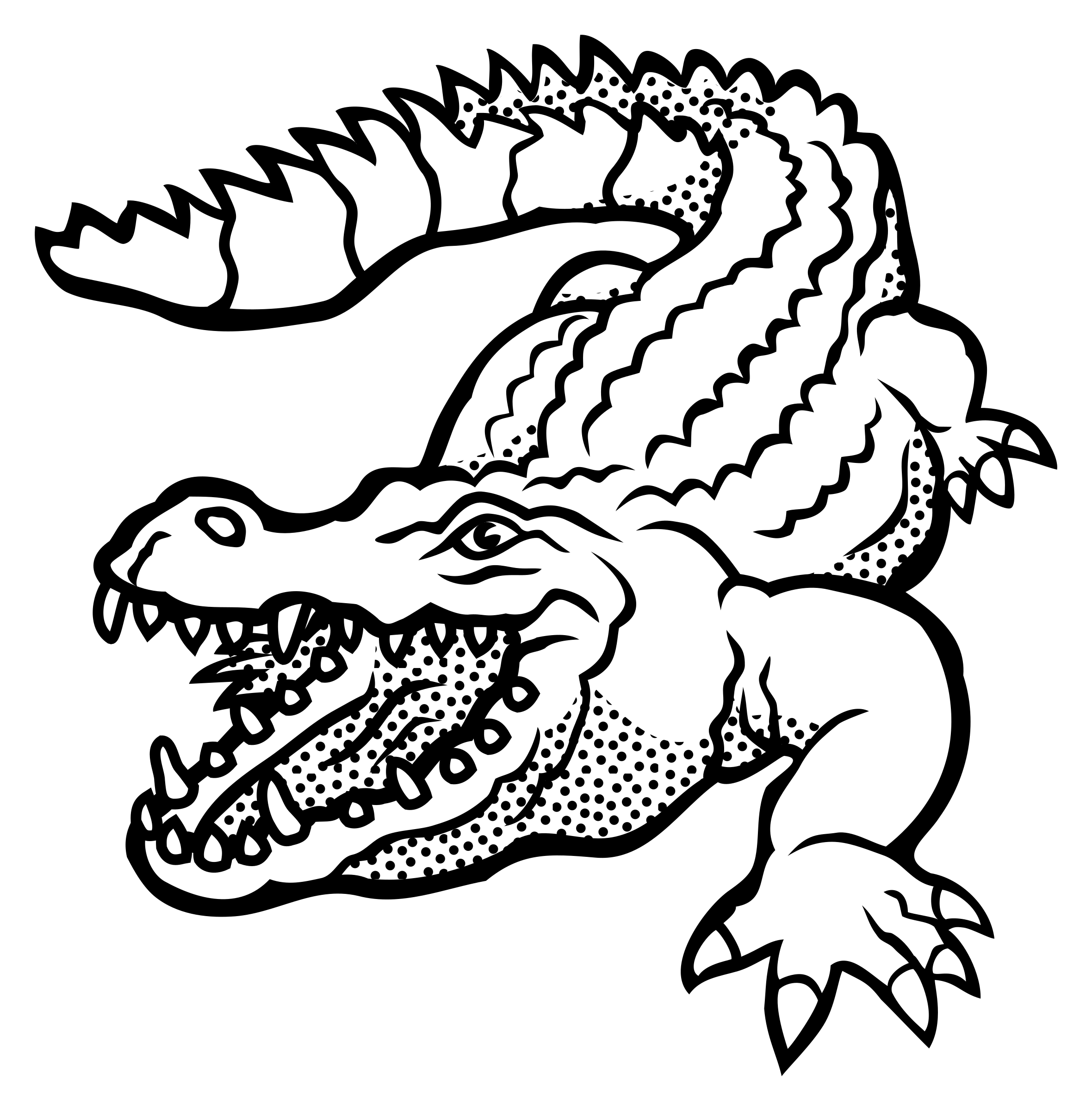 Turkey aligator clipart jpg black and white stock Crocodile Outline Drawing at GetDrawings.com | Free for personal use ... jpg black and white stock