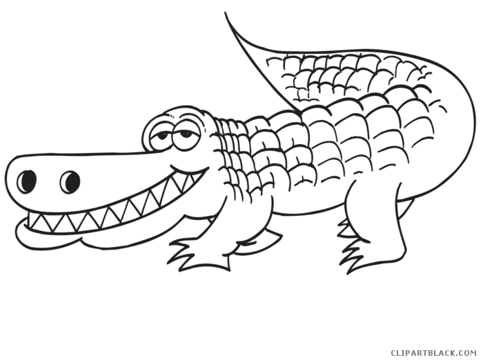 Turkey aligator clipart clip black and white library Alligator Animal free black white clipart images clipartblack ... clip black and white library