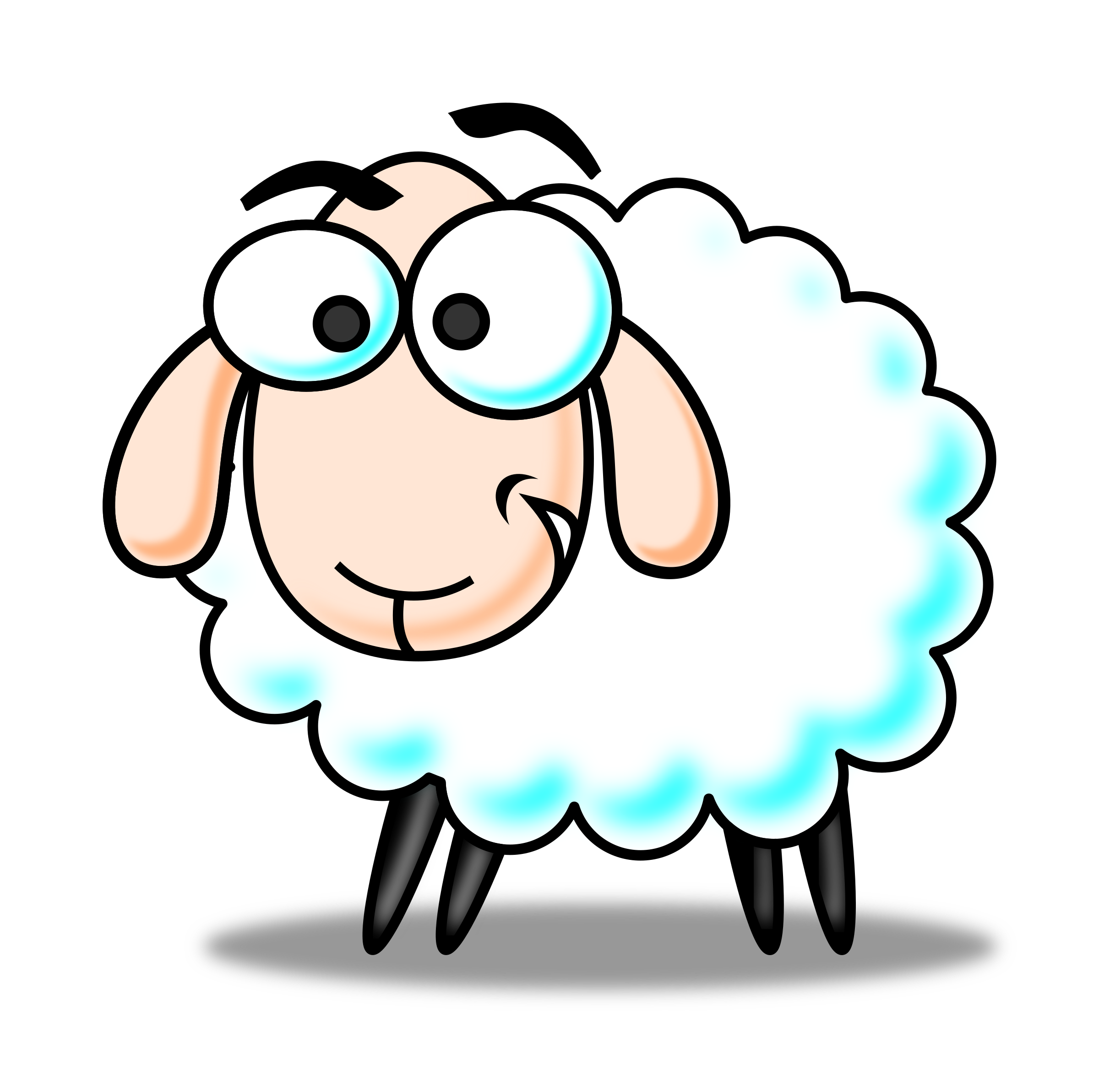 Turkey as a sheep clipart jpg transparent library Cartoon Ewe Group (69+) jpg transparent library