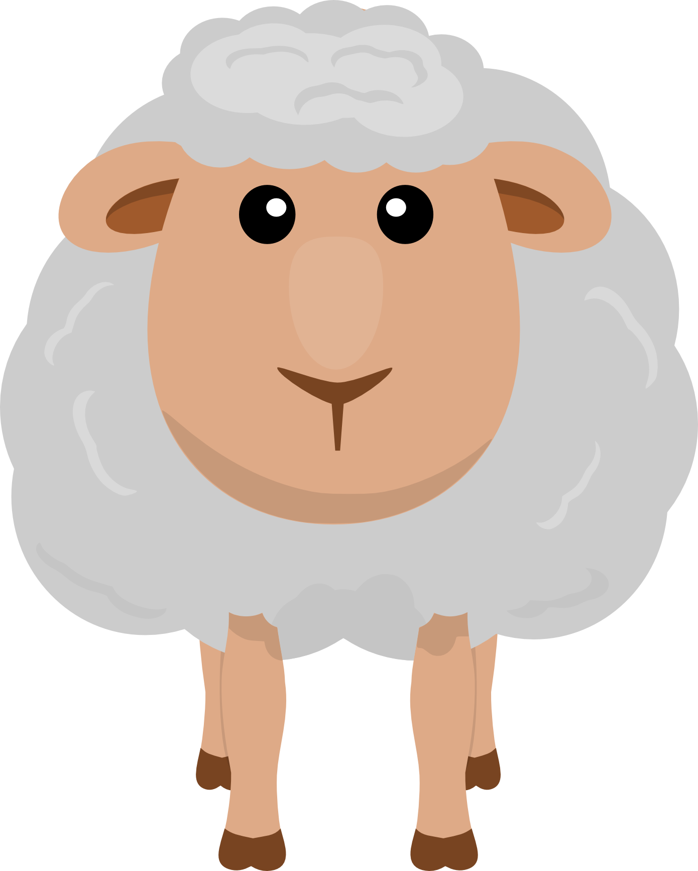 Turkey as a sheep clipart png black and white Cute Animated Sheep. Stunning Funny Interesting Gulu Sheep Wechat ... png black and white