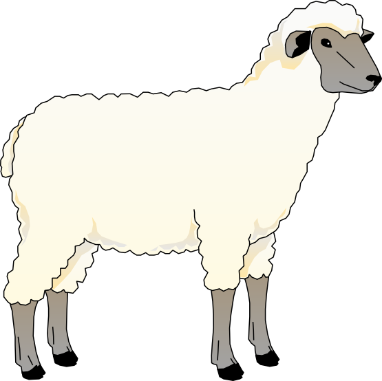 Turkey as a sheep clipart svg black and white Sheep Clipart | jokingart.com Sheep Clipart svg black and white
