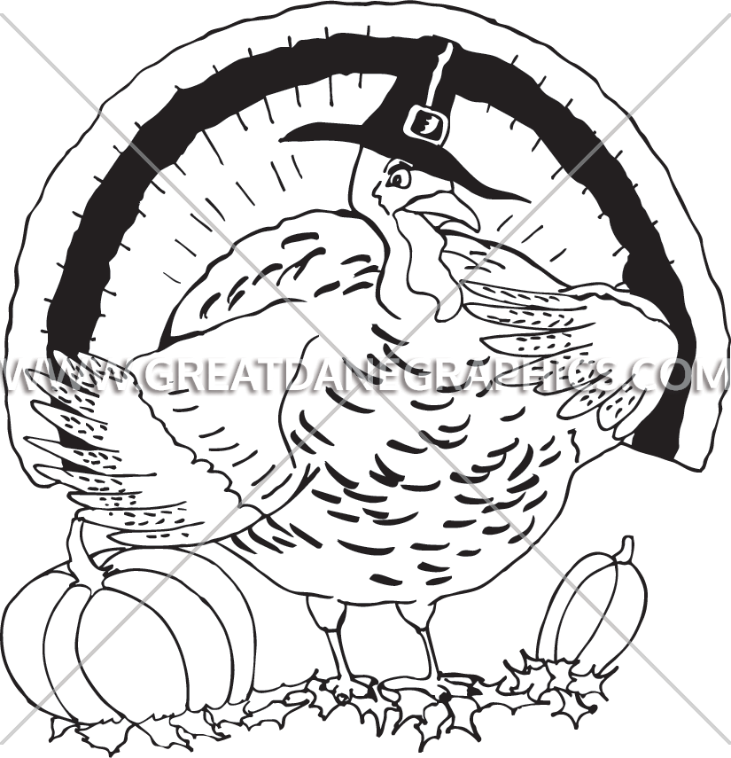 Turkey beard clipart black and white jpg Fat Turkey | Production Ready Artwork for T-Shirt Printing jpg