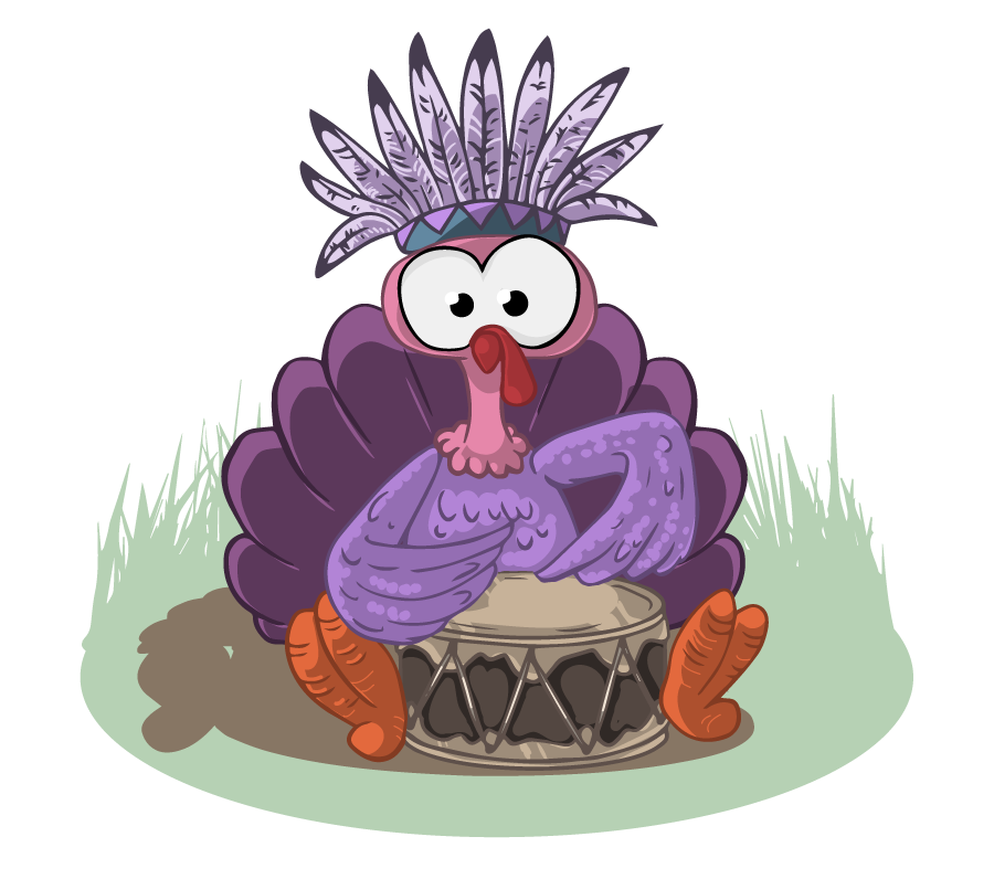 28+ Collection of Purple Turkey Clipart | High quality, free ... png black and white stock