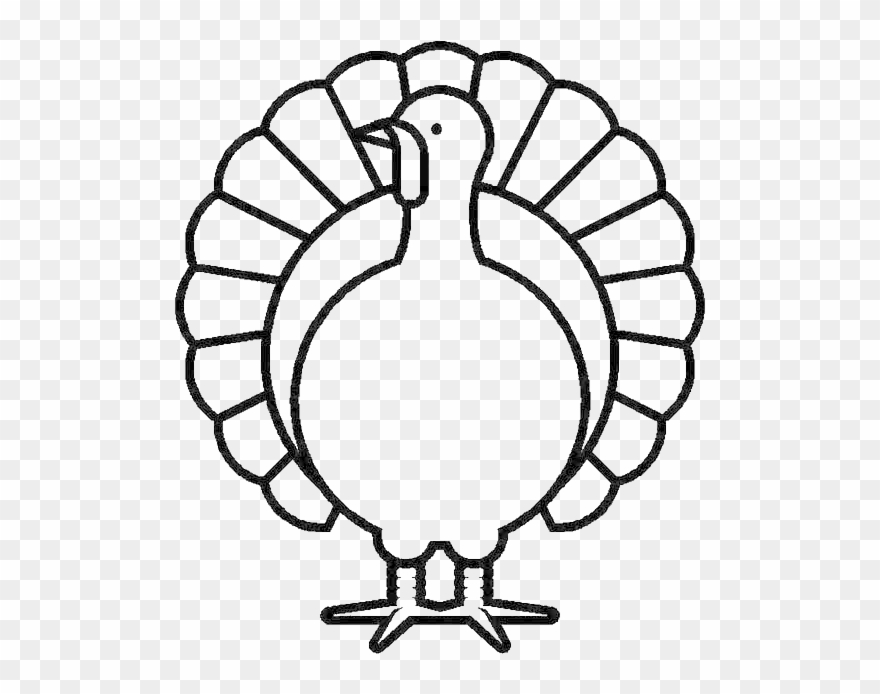 Canada Thanksgiving Day Turkey In Graphic Coloring - Turkey ... image black and white library